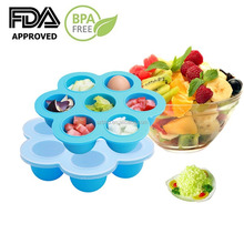 Silicone Baby Food and Breast Milk Trays