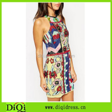China Clothing All Over Embellished Geometric Tank Dress