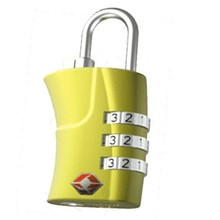 TSA-359 3 digits TSA Certificates tsa combination padlock