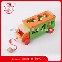 High quality Animal sort design wooden toy truck from ICTI maker