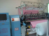 high speed computer shuttle(lock stich) multi-needle quilting machine