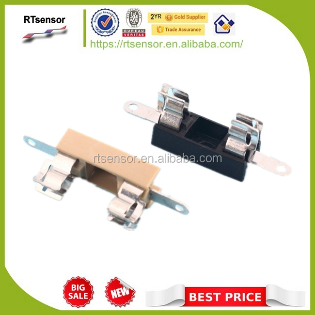 6.3A 250V PBT Lead Free Cable Type Miniature Fuse Holder With Soldering Terminal for 5.2x20mm Fuses