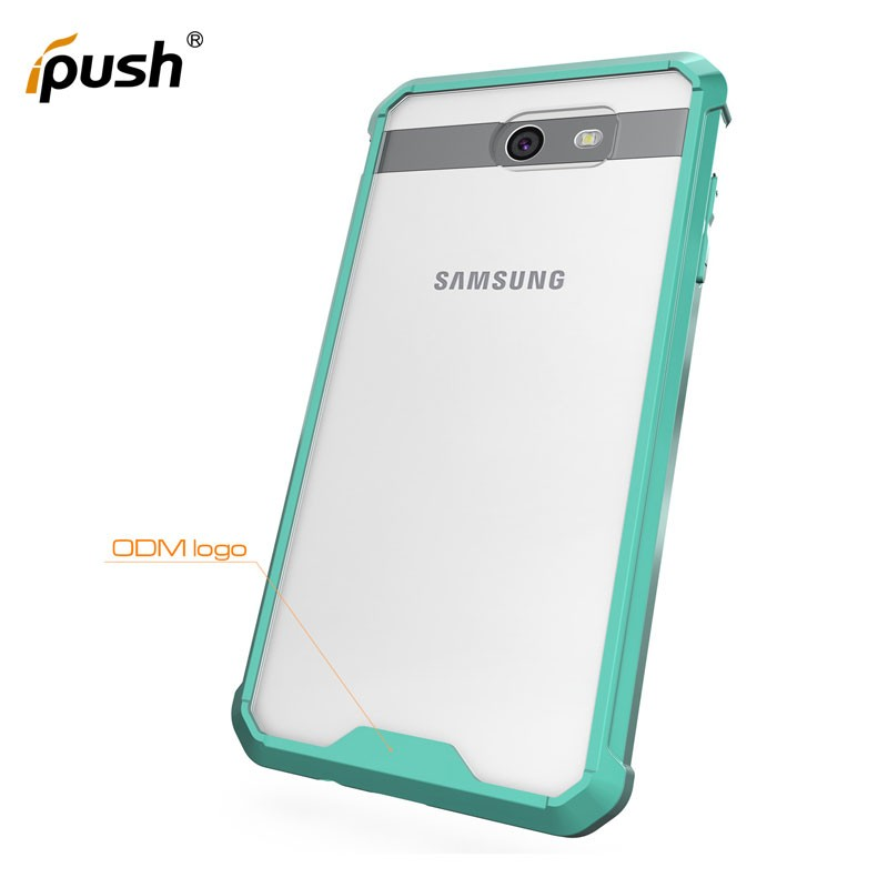 Luxury cell phone back cover case for samsung galaxy J7 2017, slim armor case for samsung J7 Prime,clear acrylic tpu case