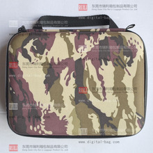 Double zipper design hard shell portable carrying travel eva case