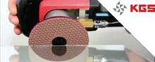 Abrasive disc-grinding and polishing tool for ceramic,glass and universal