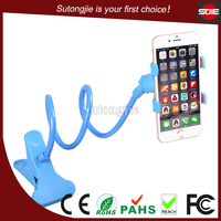 Universal flexible swivel long gooseneck phone stand cell phone holder for bed / desk mount