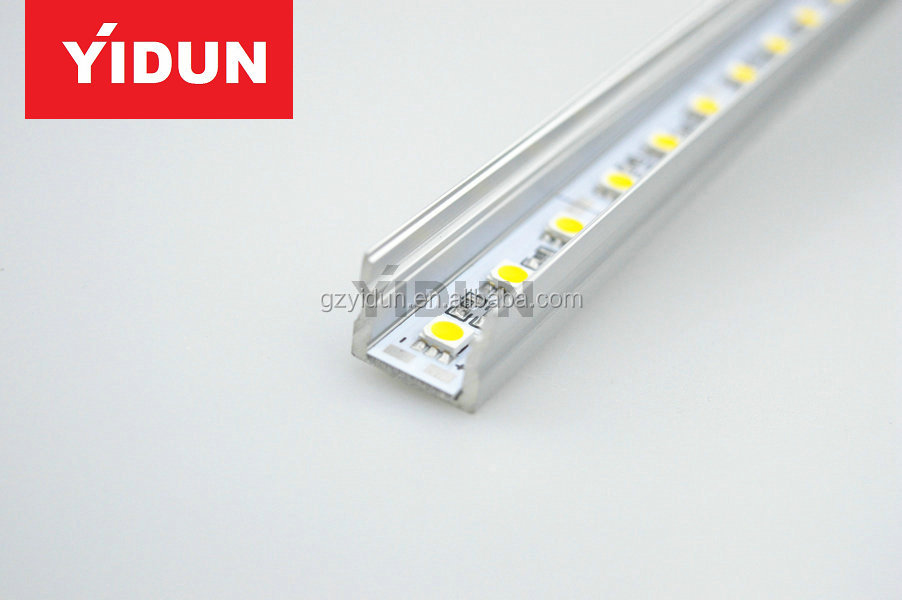 LED Aluminium Profile LED Strip Light Aluminium Profile 1M U Flat Style Rail Aluminium