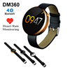 Hot Sale DM360 Smart Watch with Heart Rate Monitor Dial / SMS Bluetooth Waterproof Wristwatch Band for IOS Android Smartphone
