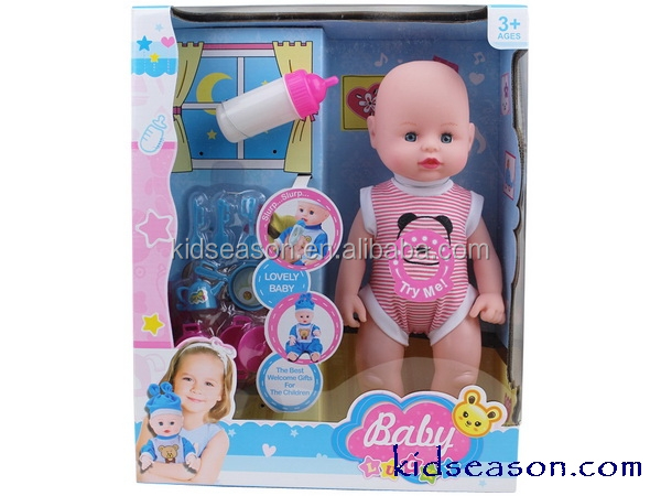 KS069230 new born baby crying doll,girl pretend play toy pee doll