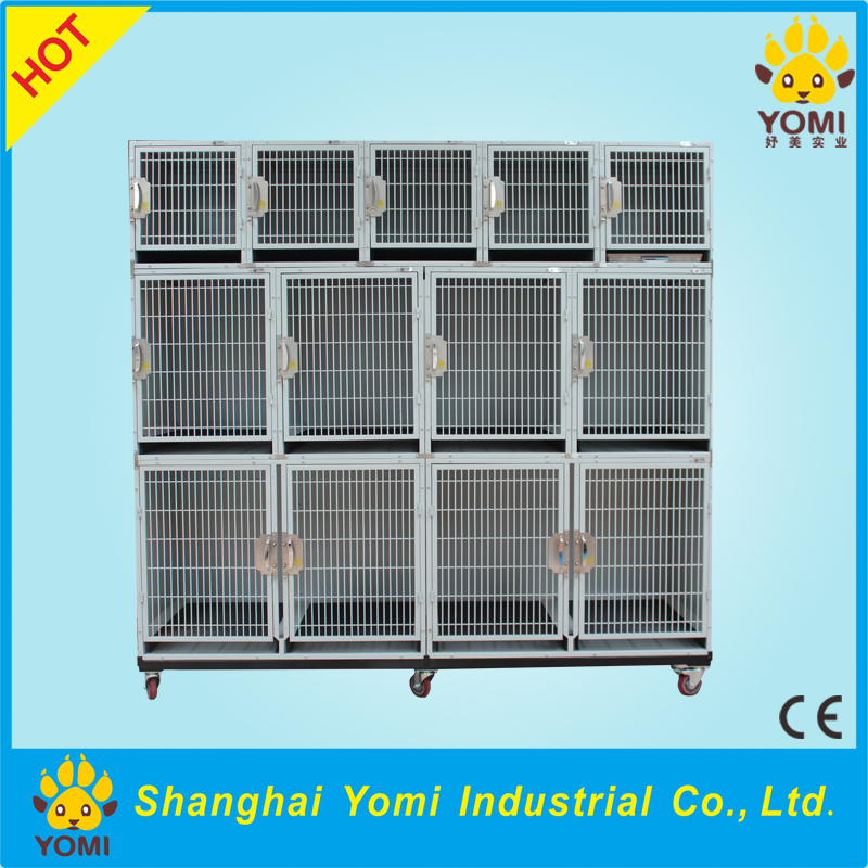 China environmental dog cage dog kennels with wheels