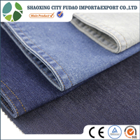 FuDao Textile high quality wholesale Polyester Spandex Cotton solid stretch denim fabric jean