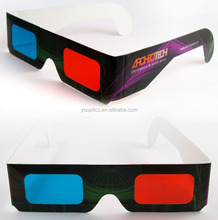 Cheap Price anaglyph 3d glasses Custom Design Paper 3D Glasses for Cinema and Promotional Gifts