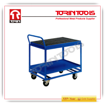 steel two-layers steel hand cart Products with good quality can be bulk booking