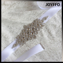 Fashion wholesale waistband belts crystal silver bride rhinestone belt for wedding dress garment accessories