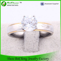 Larger Royal White Crystal Diamond Ring For Valentine's Day Gift Favor J4-0064