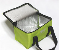 Outdoor fitness no-nwoven insulated lunch bag cooler bag for frozen food