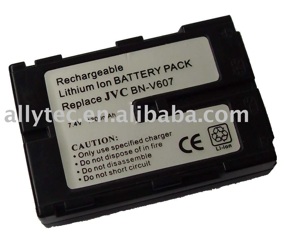 Digital camcorder battery pack for JVC BN-V607