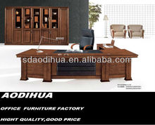 Wooden executive desk leather modesty panel/executive wooden office desk A-318
