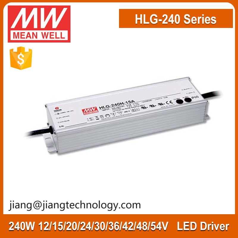 Mean well 240W Led Power Supply 30V 8A Constant Voltage + Constant Current Led Power Supply HLG-240H-30D