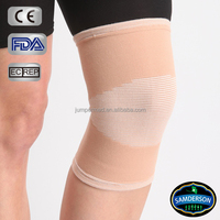 Sports therapeutic beige elastic knee support/sleeves/knee wrap