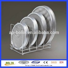 Round Grill Grates Stainless Steel / Round Pizza Mesh Tray / Perforated Pizza Screen (free sample)