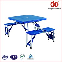 Widely Used Hot Sales folding table portable indoor outdoor picnic party dining camp tables with 4 chairs