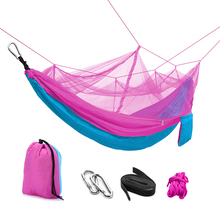 Wholesale Alibaba Parachute Hammock, portable outdoor camping hammock, with Mosquito Net hammock tree tent