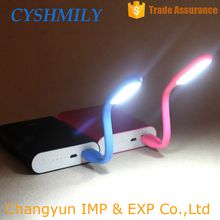 Mini portable flexible computer usb light rechargeable flashlight usb