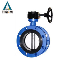 TKFM top sales weld stainless steel pneumatic powder screw type butterfly valve valve manufacturer