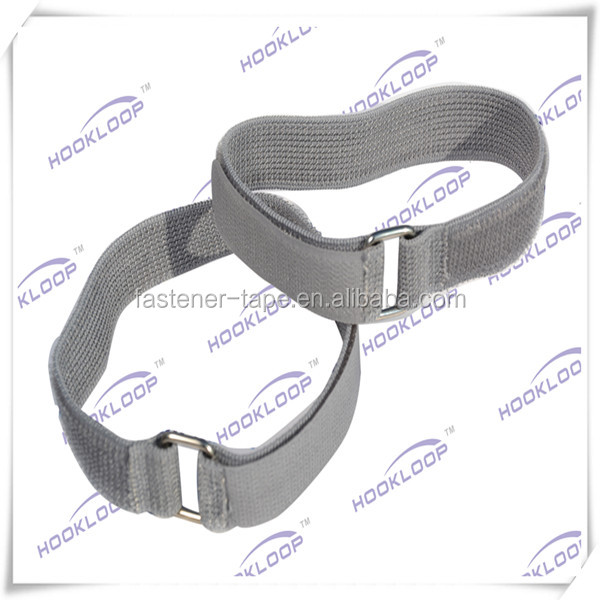 Adjustable ealstic hook loop fastener strap with buckle