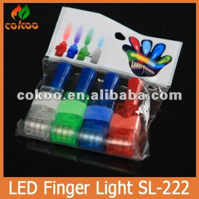 AliExpress laser light finger Zhejiang supplier,color changing led finger light promote decoration favor