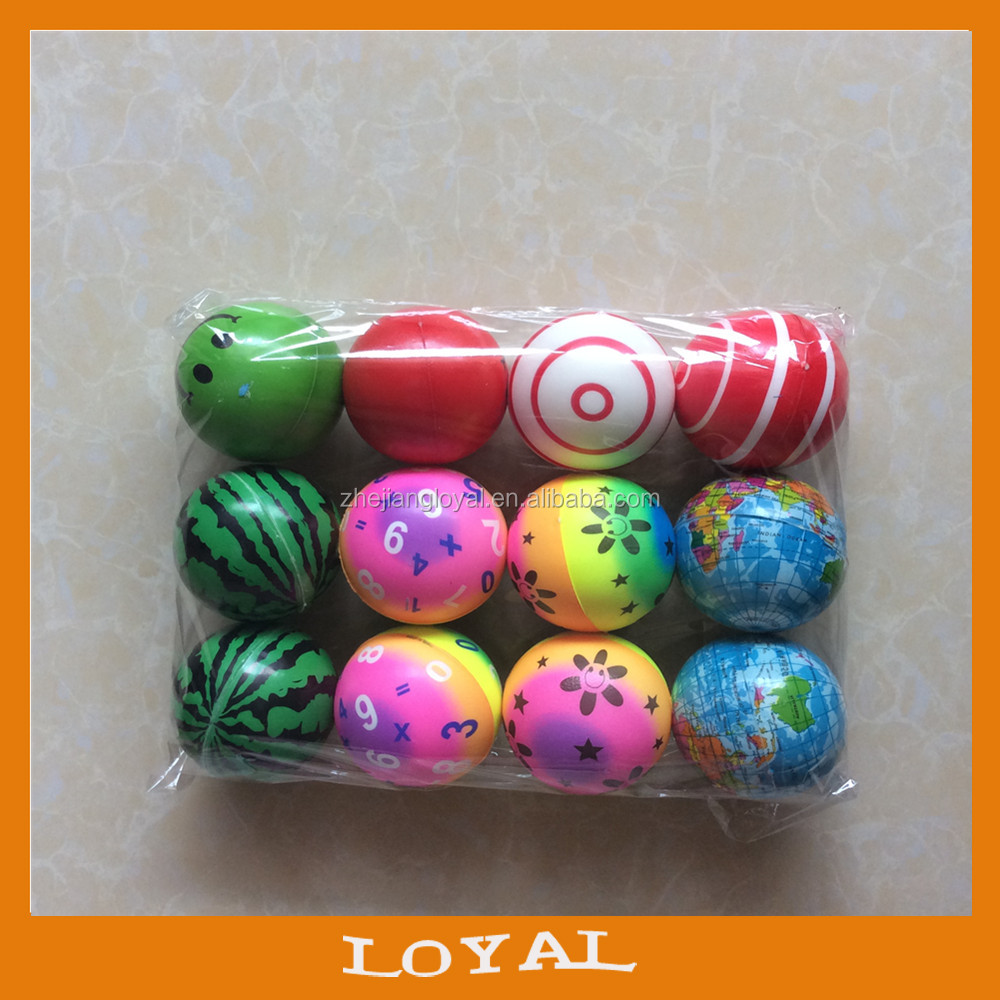 6.3cm pu foam antistress game ball for promotion toy ball pu ball