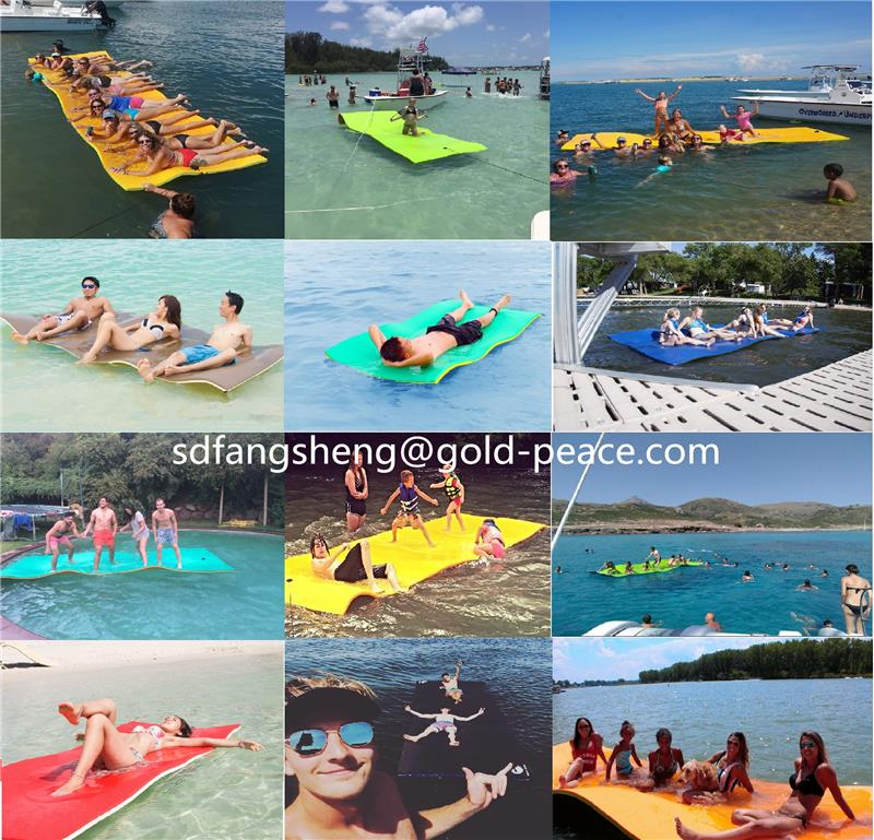 18x6ft popular size Floating foam water swimming pad for water fun