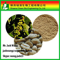 Pharmaceutical grade Green coffee bean extract Chlorogenic acid 50%, CAS 327-97-9