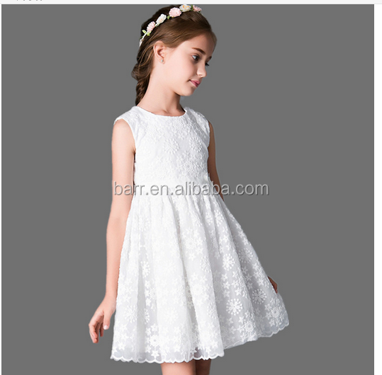 BR06217 2016 New Fashion Korean Children Clothing Beautiful Lace Dress Princess Kids Dress