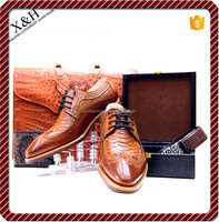 2015 Hand Made Top Luxury Genuine Leather And Snake Leather Flats Male Shoes