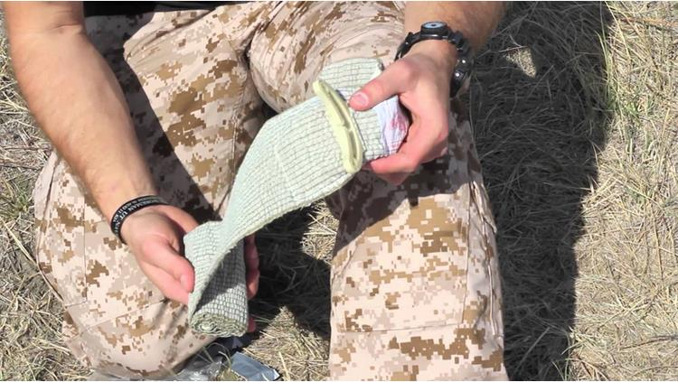 Israeli bandage used in military
