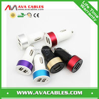 5V2.1A output Dual USB port car charger for iphone/iPad/Samsung/SAM TAB/Android