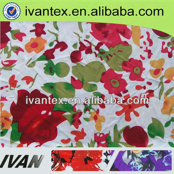 2015 Fashion new design pretty soft shaoxing manufacturer 100 viscose single jersey printed knitted fabric