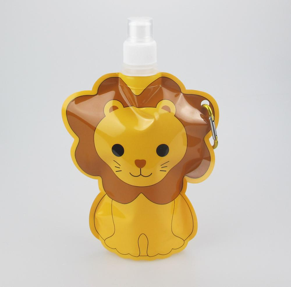 hot selling animal school folding water bottle cow shape