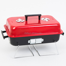 smokeless hamburger Barbecue Grill mini portable foldable bbq grill with lid