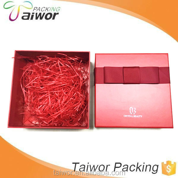 Custom matt elegant gift box with ribbon design for cloth package