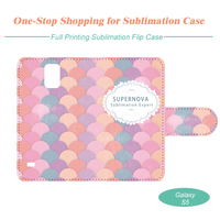 Sublimation Leather Mobile Phone Case for Samsung Galaxy S5