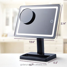 wholesale led light bar 180 Degree Adjustable Rotation Touch Screen Dimming Vanity Makeup Mirror
