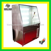 Stainless steel washing booth for screen