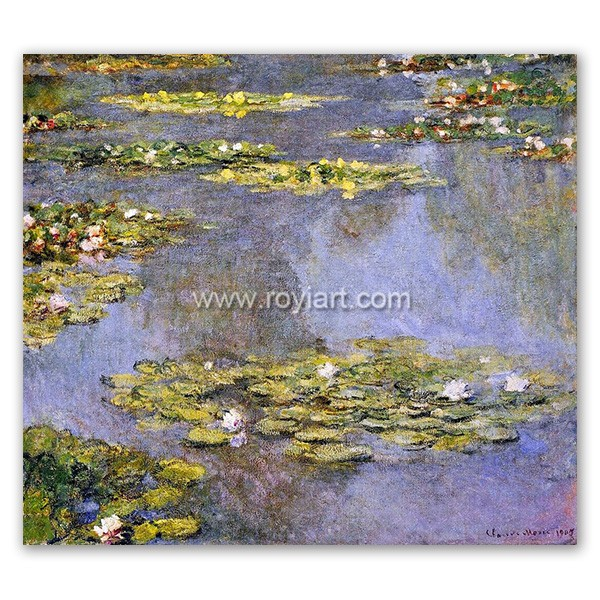 Claude Monet famous artist painting of Water Lilies 1905