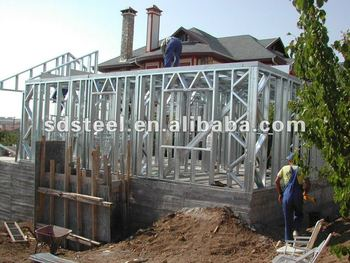 CE light steel structure villa
