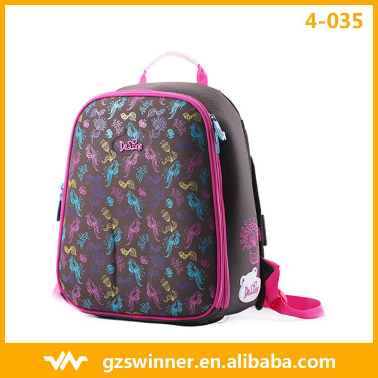 Latest Fashion Super Light Waterproof Backpack Cartoon Pink Color Backpack For Girls