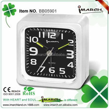 2017 hot new products Square Electrionic Mini Beep alarm clock with quartz movement -BB05901