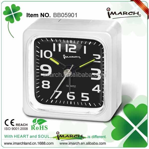 Square Electrionic Mini Beep alarm clock with quartz movement -BB05901